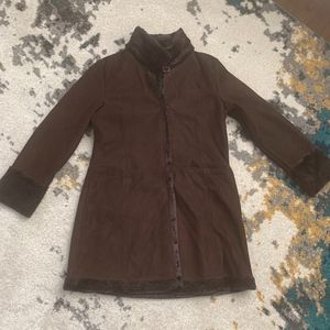 Larry Levine Brown Soft Coat with Soft Lining
